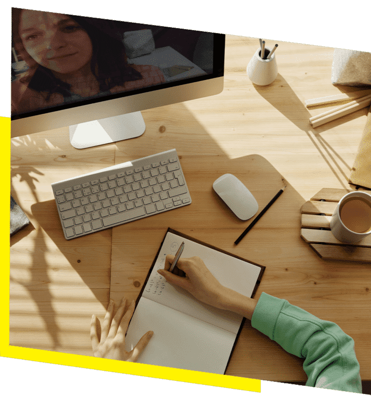 Office Desktop with notebook